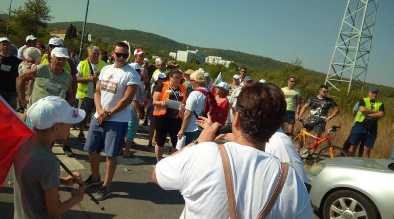 Протестът в Атия. Снимка: Фейсбук, Nevena Slavova