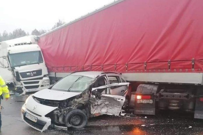 Верижна катастрофа на АМ Тракия край Вакарел