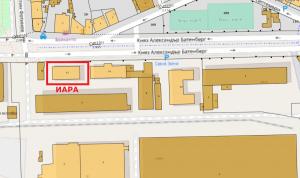 Сградата на ИАРА и имота върху, който е построена