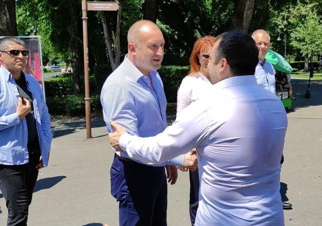 Румен Радев и Константин Бачийски в Бургас
